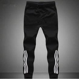 Wholesale Pants Materials - Wholesale-Mens Joggers 100% Cotton Thin Material SweatPants Jogger Pants Men Fashion Men Plus Size Gray or Black Jogger Pants