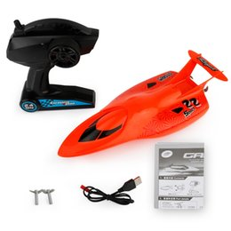 Wholesale Boat Brushless Motor - Wholesale- remote control speedboat charging racing elctric transmitter boat 4 channels waterproof airship toys outdoor children toy sea
