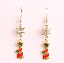 Wholesale Christmas Trees For Cheap - New Christmas XMAS Tree Snowflake Designer Earings For Ladies Girls Fashion Charm Dangle Chandelier cheap china Jewellry Bling