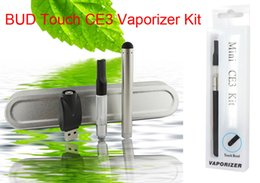 Wholesale E Cigarette Mini Clearomizer - Mini CE3 Kit O Pen BUD Battery Touch Pen Cartridge CBD Ecigarette Vaporizer E Cigarette Mini CE3 Clearomizer Oil Starter Kit