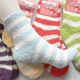 Wholesale Thermal Socks For Women - Free Shipping 10Pairs Lot Winter Warm Socks For Women High Quality Towel Warm Fuzzy Socks Candy Color Thick Floor Thermal Socks