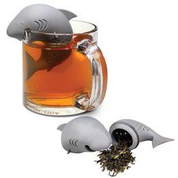 Wholesale Submarine Tea - 100 pcs lot Silicone Tea Infuser Shark Manatee Skull Submarine Shape Strainers Empty Tea Bags Leaf Filter Diffuser