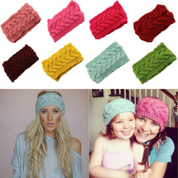 Argentina 23 Color de punto Hairband Women Lady Crochet Headband Winter Wrap Ear Warmer Head Band Accesorios para el cabello Regalo 20 * 10 cm WX9-136 Suministro