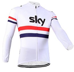 Wholesale Sky Long Sleeve Cycling Jersey - 2016 New arrive quick-dry bike clothes pro tour sky bike jerseys long sleeve cycling jerseys thin Bicycle maillot only