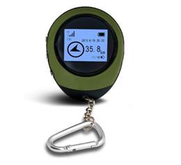 Wholesale Camping Gps - 2016 Mini GPS Tracker Tracking Device Travel Protable Keychain Locator Pathfinding Outdoor Sport Handheld Keychain