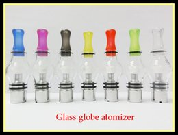 Wholesale Pipe Vaporizers - Newset Glass globe atomizers wax vaporizer pens glass globe wax atomizer wax pens vaporizers with ceramic coils for wax wax e-pipe
