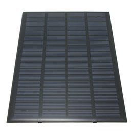 Wholesale Solar System Wholesalers - High quality 18V 2.5W Polycrystalline Stored Energy Power Solar Panel Module System Solar Cells Charger 19.4x12x0.3cm