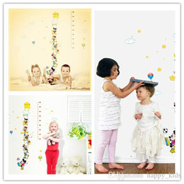 Wholesale Height Gauges - Growth Chart Growth Chart Fashion Children Lovely Cartoon Character Printing and Height Gauge Hot Kids Wall Stickers