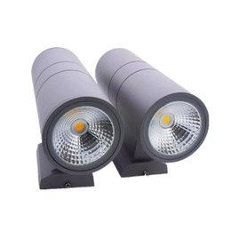 Wholesale Outdoor Wall Decor Wholesale - 20W Waterproof LED Wall Light Hall Porch Sconces Decor Fixture outdoor IP65 up and down Wall Lamp lamparas cylinder LED lamp AC85-265V