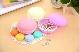 Wholesale Macaron Storage Boxes - Fashion Big Size 10*10*5cm gifts box Cute Candy Color Macaron Mini Cosmetic Jewelry Storage Box Jewelry Box Pill Case Birthday Gift Display