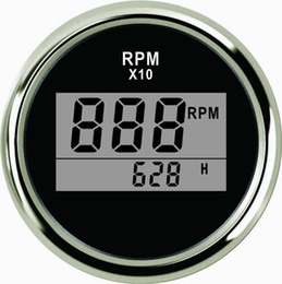 Wholesale Digital Tachometers For Cars - Digital Tachometer RPM Tacho Gauge With Hour Meter For Car Truck Boat Yacht 0-9900RPM 52mm With Backlight