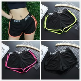 Wholesale Yoga Outfit Wholesalers - 2017 PINK Yoga Shorts Women Sport Wear Summer Short Gym Top Vest Pants Running Underwear Fitness Shorts Runner Outfits
