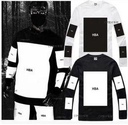 Wholesale X Men Long Sleeve T Shirt - HBA Hot! mens t shirts fashion 2016 men clothing Hood by air hba x been trill kanye west long sleeve hip hop men t shirt