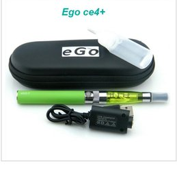 Wholesale Electronic Cigarette Smoking T - eGo CE4 plus electronic cigarette smoking eGo T Battery with CE4+ Atomizer vaporizer e-cigarette ego starter kit free shipping