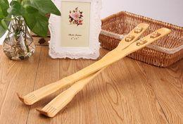 """Wholesale Wooden Back Massager Wholesaler - 19""""Handy Bamboo Massager Back Scratcher Wooden Body Stick Roller Backscratcher"""