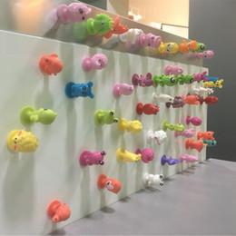 Desenhos animados do oceano on-line-Venda quente 50 pçs / lote crianças pouco colorido dos desenhos animados figuras de ação do oceano brinquedo mini monstro otário cápsula modelo