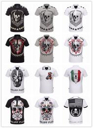 Wholesale European High Fashion - Summer Men'S Fashion Brand PP Short Sleeve T Shirt Men Casual Solid Color High Quality Skulls Philipp-Plein Polo Sports Camisetas T-Shirt