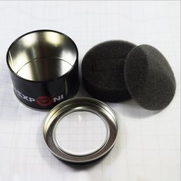 Wholesale Black Jewelry Package - Cheap 3.5cm Black Circular Metal Box Round Watch Box Watch Tin Box Universal Jewelry Packaging Wholesale