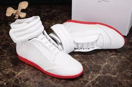 Wholesale White Bootie - 2016 new male shoes New Design High Top Shoes Bootie PVC-Suede Leather Walk Sport Shoes Men Fashion Lace Up Casual Men Flats