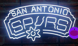 """Wholesale Neon Crafts - NEW SPURS Glass Neon Sign Light Beer Bar Pub Sign Arts Crafts Gifts Sign 19"""""""