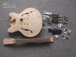 Wholesale Diy Kit Guitars - PROJECT ELECTRIC GUITAR BUILDER KIT DIY WITH ALL ACCESSORIES 335 JAZZ STYLE