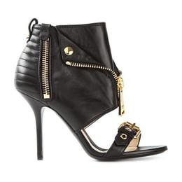 Wholesale Trendy Rubber Sandals - 2016 women sandals zip buckle peep toe women stiletto heel high heels sandals woman sandalias fashion trendy sandals summer boots