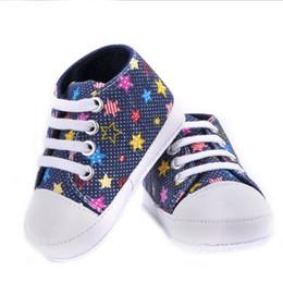 милые осенние туфли Скидка Wholesale-Fashion Baby Girls Boys Canvas Shoes Soft Prewalkers Casual Toddler Bhoes