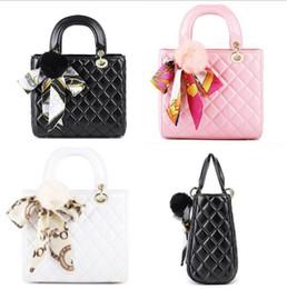 Wholesale Girls Pink Purse For Kids - New Designer Handbag For Kid tote bag Fashion Kids Messenger Bags Children's Purses Girl Mini Summer Shoulder Bags Black Pink Red