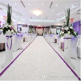 Argentina De alta calidad blanco temático de tela de felpa de la boda corredor de la alfombra corredor para la decoración del partido suministros 10 metro por lote Suministro