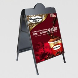 Wholesale Advertising Poster Display - Jabao Powder Coated Black Poster Stand A-board Billboard Display Double-sided Advertising Stand for shop promotion 0160601#