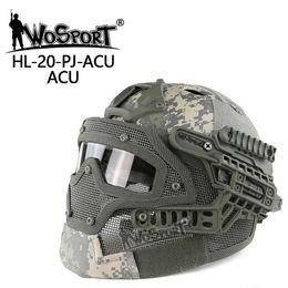 2019 casco del ejército de airsoft Nuevo casco táctico BJ MH PJ Máscara ABS con gafas para Airsoft Paintball Army WarGame Motociclismo Ciclismo Caza rebajas casco del ejército de airsoft