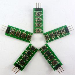5 UNIDS 3-5 V 4 Botones AD Teclado Teclado Botón de salida analógica para Arduino nano uno frambuesa pi 3 breadboard stm32 kit de inicio desde fabricantes