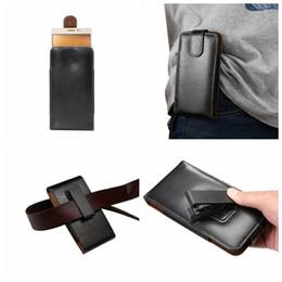 cassa verticale samsung s6 Sconti Custodia protettiva per fodera in pelle nera Custodia per fondina in pelle per iPhone 7 6 6S SE 5 / Galaxy S7 / Edge / S6 / Plus 360 Custodia per cintura