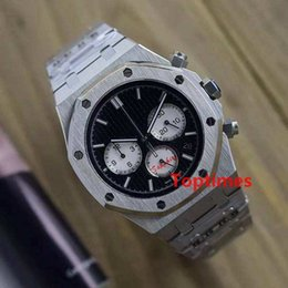 Wholesale men luxury divers watches - Aaa Men Luxury Brand Stainless Steel Strap Multifunctional Jananese VK Quartz Chronograph 44mm Gifts Sport Mens Watches Geneva Watch