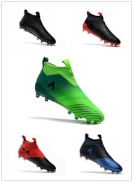 Wholesale Cheap Mens Soccer Cleats - 2017 Cheap Drop Free Shipping ACE 17+ Purecontrol FG NEW Men's Soccer Shoe boots Mens ace 17 soccer cleats football shoes online