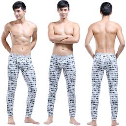Wholesale Long Underwear For Men Wholesale - Wholesale-2016 Men Long Johns High Quality Cotton Thermal Underwear U Convex Warm Pants Sleep Trousers For Men Free Shipping MCUN530
