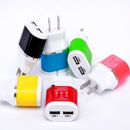 Wholesale Eu Usb Mains Charger - US EU plug 2 Ports USB charger Mains Wall Charger for iPad2 3 4 mini ,for iPhone6 4G S 5 for galaxy s5