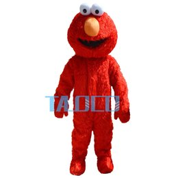 Wholesale Elmo S Costume - High quality Sesame Street Red Elmo Monster mascot costume Cartoon Fancy Dress