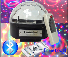 Wholesale Mp3 Led Ball - LED Crystal Magic Ball Effect Light disco ball Bluetooth MP3 SD USB Stage Lighting disco light Remote Control