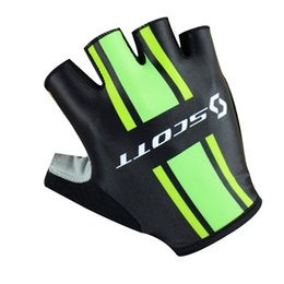 Wholesale Scott Mountain - scott Breathable Mountain Road Cycling Gloves 3D Gel Anti-slip Cycling Protective Gear outdoor sport shockproof Half Finger Gloves