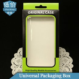 Wholesale Glossy Case S4 - 200pcs lot Universal Retail Package Paper Packaging Box For iPhone 4 5 6 SE Samsung Galaxy S4 S5 S6 S7 Note 3 4 5 Cell Phone Case