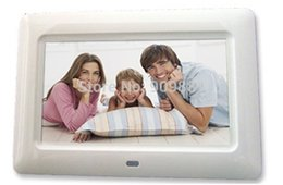 Wholesale Building Screen Frames - Wholesale Brand New 7 Inch Digital Photo Frame With SD MMC USB Port Built-in Analog Clock Free Shipping