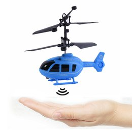 Wholesale Rc Factory - Wholesale- Q Style Factory Price drop ship Flying Mini RC Infraed Induction Helicopter Aircraft Flashing Light Toys Brand New