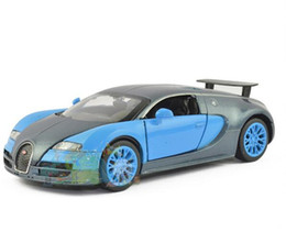 Wholesale Diecast Bicycles - 1:32 Scale Bugatti Veyron GT Alloy Diecast Car Model Pull Back Toy Cars Electronic Car with light&sound Kids Toys Gifts