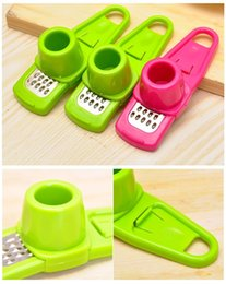 Wholesale Ginger Cooking - Hot Multi Functional Ginger Garlic Grinding Grater Planer Garlic Mini Cutter Cooking Tool Kitchen Utensils Kitchen Accessories 171010