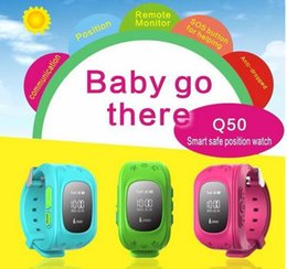 Wholesale Wrist Watch Alarm For Kids - Q50 Kids GPS Tracker Watch For Kids SOS Emergency Anti Lost GSM Smart Mobile Phone App Bracelet Wristband Alarm for Android iOS DHL