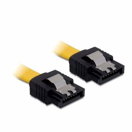 Wholesale Ssd Hard Drive Wholesale - Wholesale- 5pcs lot 10CM 6Gb s SATA3 Serial ATA DATA cable with latch for PC Laptop SATA 3.0 SATAIII 6Gbps Hard Drive Disk,SSD