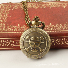 Wholesale Buyer Price - Coupon for wholesale buyer price good quality girl woman lady fashion vintage bronze One Piece skull pocket watch necklace hour