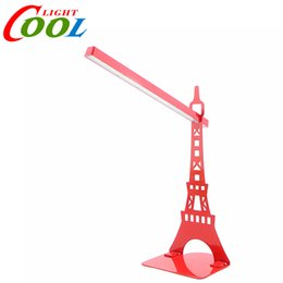 Wholesale Bookshelf Lamp - Wholesale-Eiffel Tower Touch Dimmer USB LED Desk Lamp Bookshelf Reading Lamp Table Lamp.