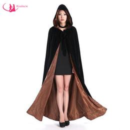 Wholesale Long Black Velvet Cape - Chirstmas Design Long Velvet Cloak Hooded Hot Selling Good Quality Exclusive Bridal Cape Can Be Custom Made